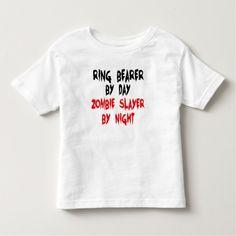 Ring Bearer Zombie Slayer Toddler T-shirt