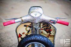 v e s p a m o r e: Sailor Jerry vespa Vespa Motorcycle, Italian Scooter, Vespa Lambretta, Sailor Jerry, Dream Garage, Vintage Art, Old School, Classic Cars, Cool Stuff