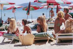 Canvases of Saint-Tropez Beach by Slim Aarons
