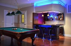 Basement pool table room basement game room ranks on our list of great f Bar Pool Table, Best Pool Tables, Pool Table Games, Pool Table Room, Game Room Basement, Basement Pool, Basement Ideas, Basement Layout, Lofts