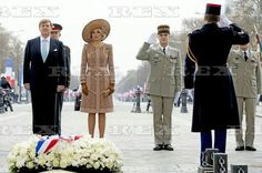 Dutch Royals visit the tomb of the unknown soldier in Paris, France - 10 Mar 2016 King Willem Alexander and Queen Maxima of The Netherlands 10 Mar 2016