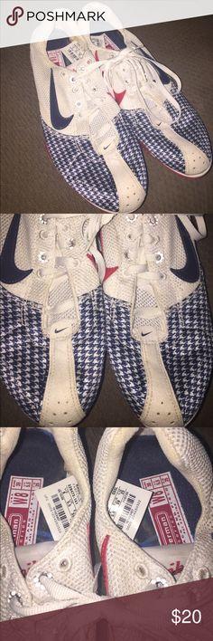 NIKE TRACK AND FIELD SHOES, size 8 NIKE ZOOM JANA STAR III TRACK AND FIELD SHOES Bowerman series, red, white & blue. size 8 Nike Shoes Athletic Shoes