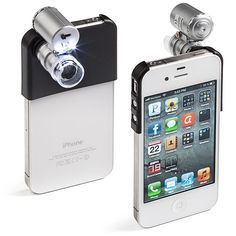 ThinkGeek :: Mini Microscope For iPhone - Y not?