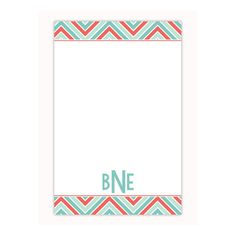 Chevron print personalized notepad, custom note pad, memo pad, personalized stationery notepad makes a great office gift or gift for her by PaperKStudios on Etsy