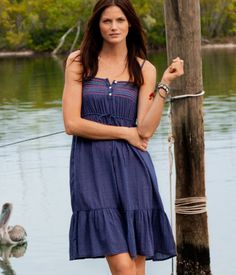 This dress is great. Cute with the gold sandals or a wedge.