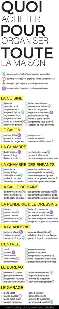 The best DIY projects & DIY ideas and tutorials: sewing, paper craft, DIY. Ideas About DIY Life Hacks & Crafts 2017 / 2018 Quoi Acheter pour Organiser TOUTE la Maison ? Diy Organisation, Life Organization, Organizing, Memo Boards, Design Scandinavian, Tips & Tricks, Home Hacks, Good To Know, Sweet Home