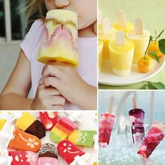 Helados de Fruta Natural... Sólo tendremos que pelar y cortar los trozos de fruta que más nos gusten. Y luego decidir cómo va a ser el helado, en forma de batido, con jugo de fruta, de colores distintos, hay infinidad de posibilidades.