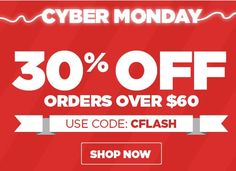 It's time for the greatest deal of the YEAR! Save 30% on orders over $60 when you use the code: CFLASH. Don't wait, inventory is limited!