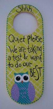 Hand Painted Personalized Classroom Owl Door Hanger Teache