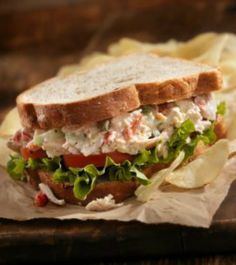 Guiltless Chicken Salad: 29 grams of protein, 180 calories, 3 g fiber! You'll love this healthy and filling recipe! | via @SparkPeople #food #lunch #sandwich