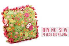 DIY No-Sew Fleece Tie Pillow free project