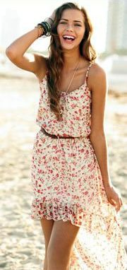Soft florals on the beach