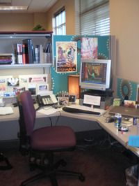 Love the colors - could do office walls neutral and smoke blue with pops of orange on desk.