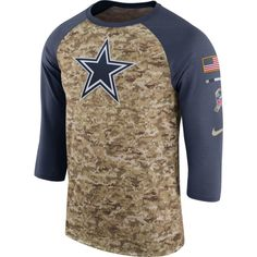 e9a5f86b8 Nike Men s Dallas Cowboys Salute to Service 2017 Camouflage Raglan