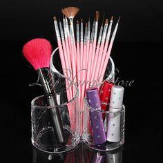 Cosmetic Make Up Case Lipstick Liner Brush Acrylic Holder Organizer Drawer Stand | eBay