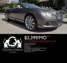 www.BentleyLaJolla.com Lease Specials, Bentley Continental