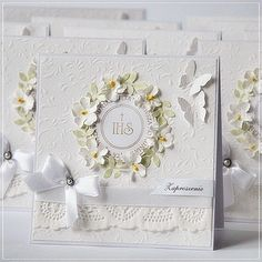 First Communion Cards, Boys First Communion, Baby Cards, Kids Cards, Christening Invitations Boy, Confirmation Cards, Scrapbook Paper Crafts, Scrapbooking, Handmade Invitations