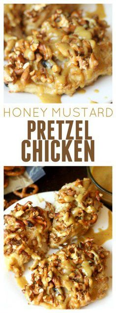 Honey Mustard Pretzel Chicken from Six Sisters' Stuff | This delicious Family Dinner Recipe is loved by EVERYONE in the family! #recipe #familydinner