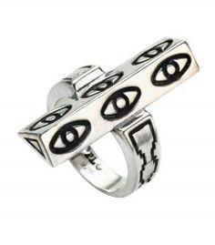 Pamela Love Six Eye Ring - These sterling beauties from Pamela Love were one of the hottest sellers on ShopBAZAAR this week. Such a great find! http://shop.harpersbazaar.com/pamela-love-sunset-earrings