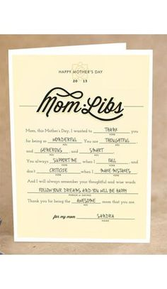 Mom Libs | Unique Mother's Day Cards Mom Will Love #MothersDay #Mom #Holidays