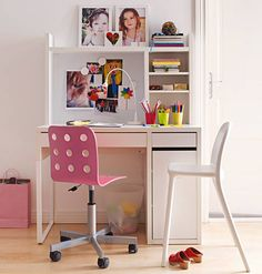 Pink gold black kate spade inspired office polka dot wall decal favorite places spaces - Silla junior ikea ...