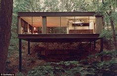 Image 3 of 8 from gallery of From Psychopath Lairs to Superhero Mansions: How Cinema and Modernist Architecture Called A Truce. Ben Rose House, designed by A. Image via Mid-Centuria. Interior Architecture, Interior And Exterior, Beautiful Architecture, Modern Interior, Interior Design, Minimal Architecture, Drawing Architecture, Architecture Panel, Chinese Architecture