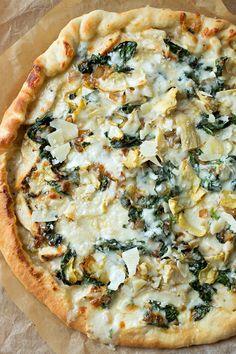 Flatbread Pizza, Vegetarian Recipes, Cooking Recipes, Healthy Recipes, Gourmet Pizza Recipes, Pizza Life, Pizza Pizza, Veggie Pizza, Chicken And Spinach Pizza Recipe
