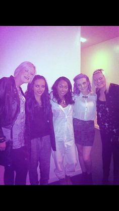 Twitter / RuthPayne0990: We were part of them for 10 minutes. Liam's sisters Nicola and Ruth with 3/4 of Little Mix