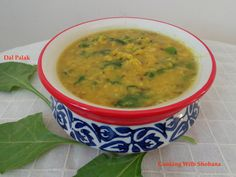 Easy to make dish made with moong dal and spinach.