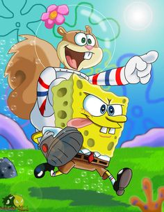 Spongebob and Sandy by Wolf-Boy Spongebob And Sandy, Spongebob Patrick, Spongebob Memes, Spongebob Squarepants, Cute Disney Wallpaper, Cute Cartoon Wallpapers, Wallpaper Iphone Cute, Spongebob Drawings, Wallpaper Fofos