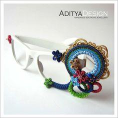 Oyshee Oksy Soutache Glasses soutage unique by AdityaDesign, $95.00