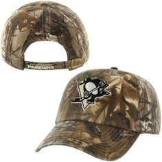 Mens Pittsburgh Penguins '47 Brand Realtree Camo Clean Up Adjustable Hat