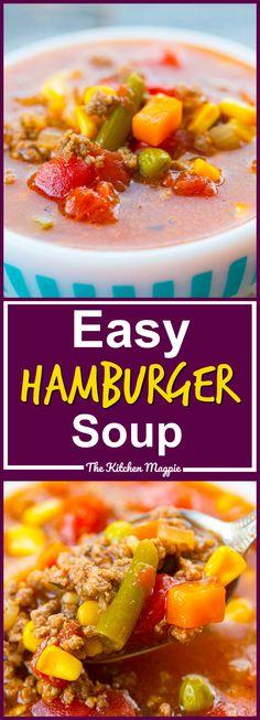 Simple Classic Hamburger Soup