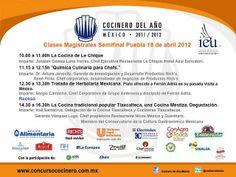 Clase magistral Puebla 18 Abril, talleres gratuitos/ Cocinero del Año México