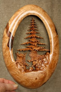 Wood Carving of a Tree art sculpture best by TreeWizWoodCarvings