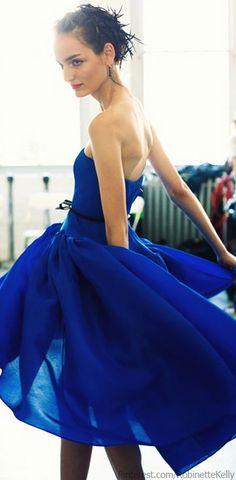 Jason Wu | Classic Blue Pretty Dresses, Blue Dresses, Beautiful Dresses, Flowy Dresses, Gorgeous Dress, Jason Wu, Pale Dogwood, Style Bleu, Cobalt Blue Dress