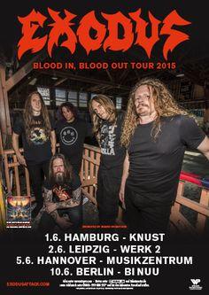 Die Thrash-Metal Götter sind zurück: EXODUS live in Deutschland!!