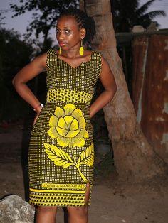 Images of khanga dress designs