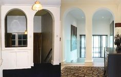 Hallway before and After Transformation Images, John Evans, Interior Architecture, Interior Design, Furniture, Home Decor, Architecture Interior Design, Nest Design, Decoration Home