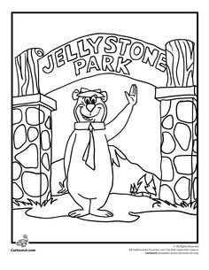 yogi bear coloring pages 35 Best YOGI BEAR AND BOO BOO images | Coloring pages, Bear  yogi bear coloring pages