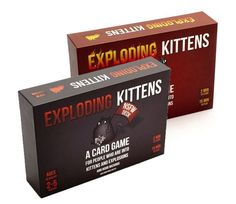 Exploding Kittens Original Edition and NSFW Edition Explicit Content Card Games #ExplodingKittens