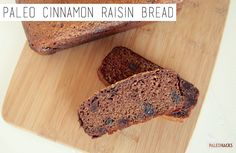 This Paleo Cinnamon Raisin Bread is perfect for a filling snack, as a hearty breakfast, or even as a delicious dessert.