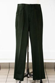 UPPER LEVEL Forest Green Trousers #M6251051