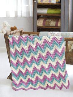 Zig Zag Baby Blanket on Ravelry - Free Crochet Pattern