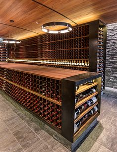 Slopeside Wine Cellar by Carney Logan Burke Architects as Architects Archello Cave A Vin Design, Wine Cellar Basement, Home Wine Cellars, Bar A Vin, Wine Cellar Design, Wine Tasting Room, Design Living Room, Wine Wall, In Vino Veritas