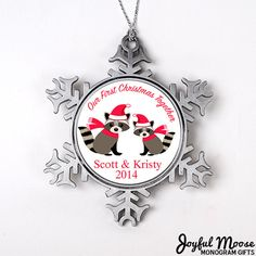 Our First Christmas Ornament  Personalized by JoyfulMoose on Etsy