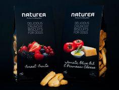 Packaging design for 'Naturea' dog biscuits by Dora Azevedo