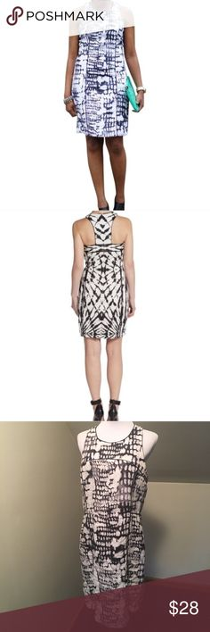 """Cynthia Rowley Printed Sheath Dress with Y Back 12 100% linen dress with cotton lining. Abstract snake skin pattern. Grey preowned condition. Let me know if you have any questions. Bundles encouraged and offers welcome :)  Bust 19"""" across Length 38"""" Cynthia Rowley Dresses Mini"""