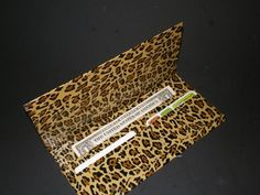 Great leopard Duck Tape wallet by @TheLateMrsHunt