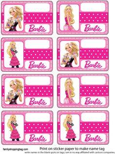 Tarjeta de Barbie imprimible